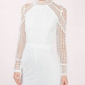 Tobi M Zoey white lace overlay mini dress
